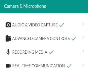Mobile app vs mobile website Android Chrome camera and microphone