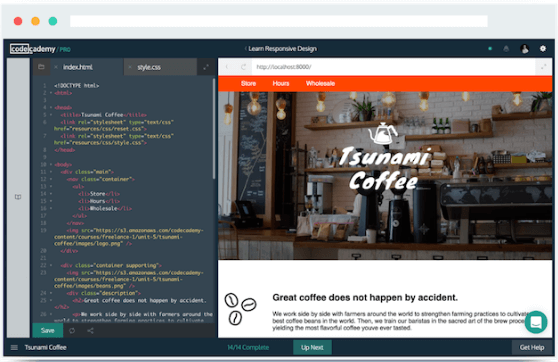 Codeacademy online education app