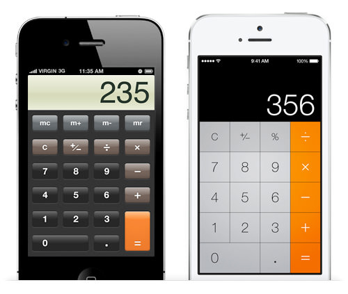 IOS app design: calculator