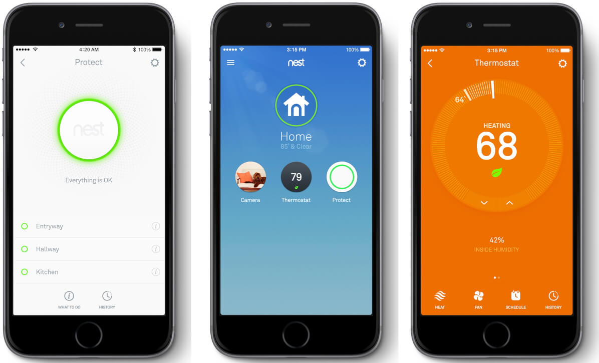Smart home app: devices and sensors