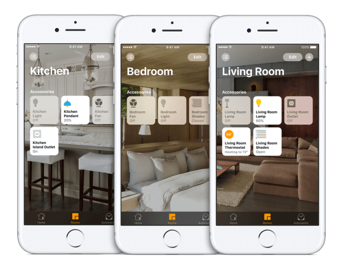 Smart home app: rooms