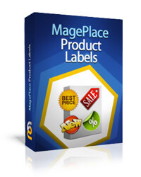 Magento product label example