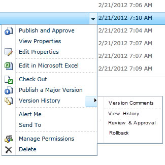 Documents management interface