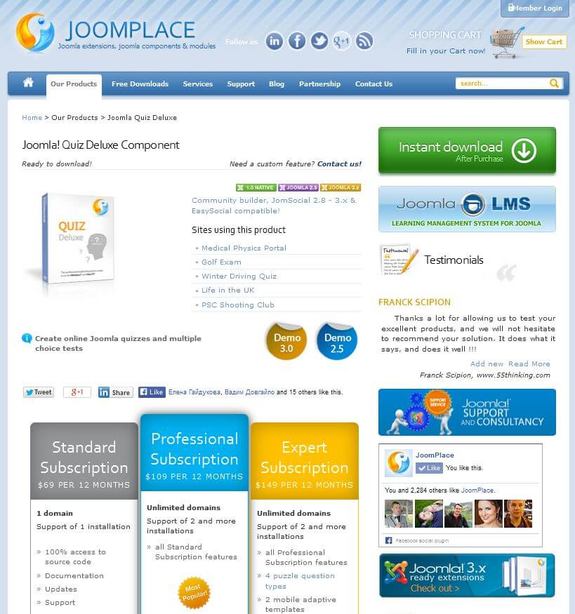JoomPlace Product page