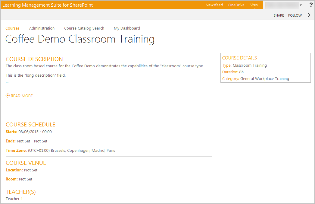 Sharepoint LMS Training