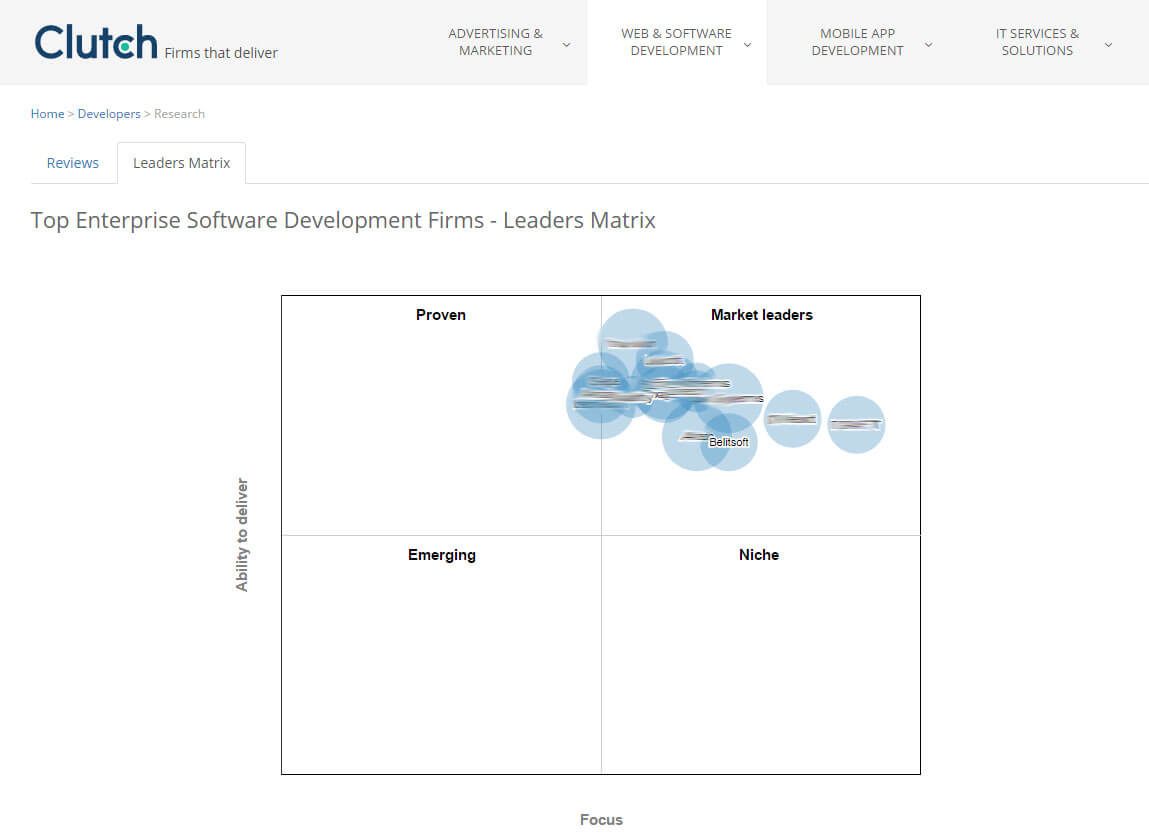 Belitsoft Company Included in the Top Enterprise Software Development Firms