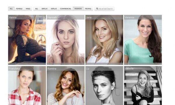 Custom Web Development For a Model Agency