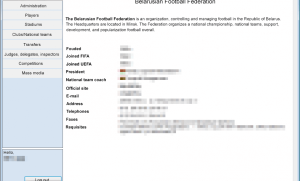 Custom C# Desktop Application Development for a Football Federation