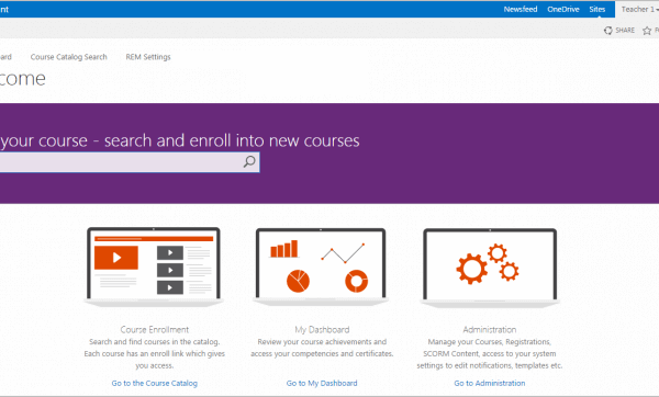 SharePoint-based Learning Management System Development