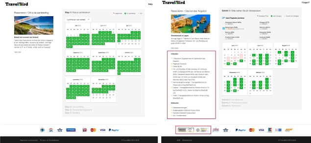 TravelBird in Netherlands and Germany