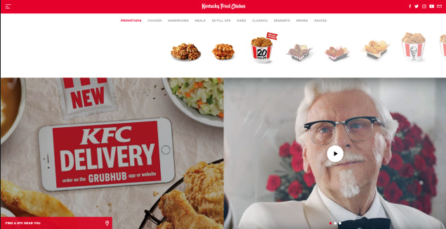 KFC design in the USA