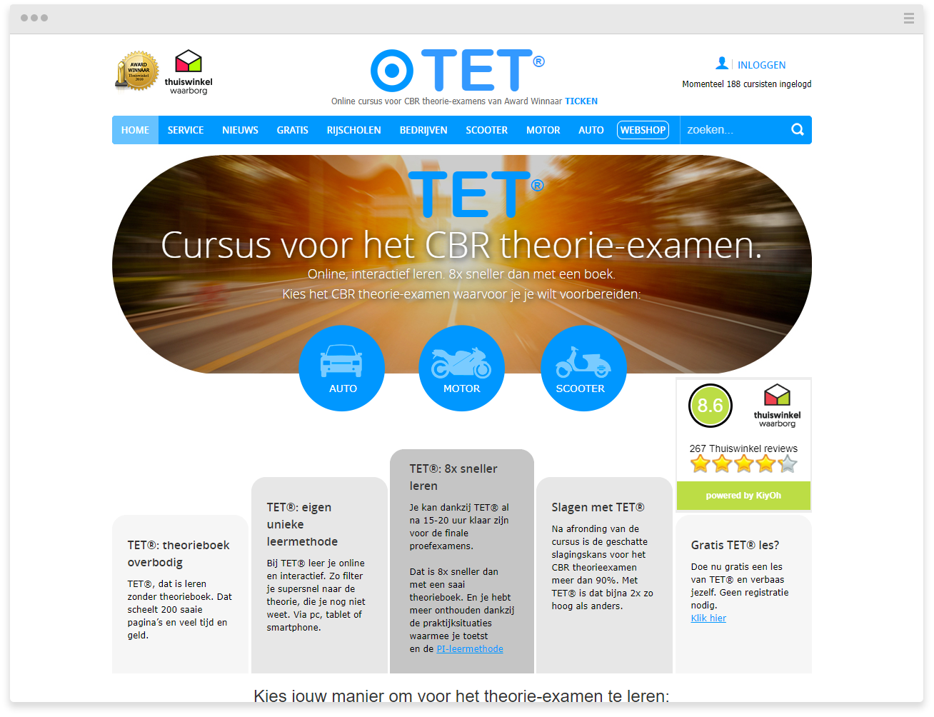 Theorie Examentrainer Main Page